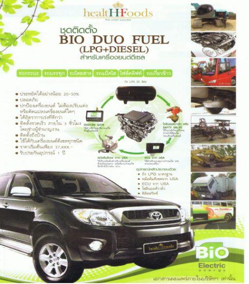 ุดติดตั้งอัจฉริยะ  Bio  Duo  Fuel  (LPG+Diesel)  สำหรับเครื่องยนต์ดีเซล  ประหยัด  30-50%  เป็นระบบที