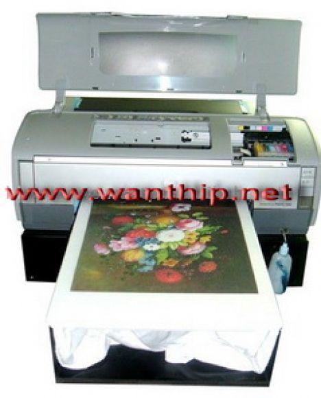 พิมพ์ภาพลงเสื้อยืดด้วยเครื่องพิมพ์เสื้อยืด Digital Inkjet ความละเอียดสูง