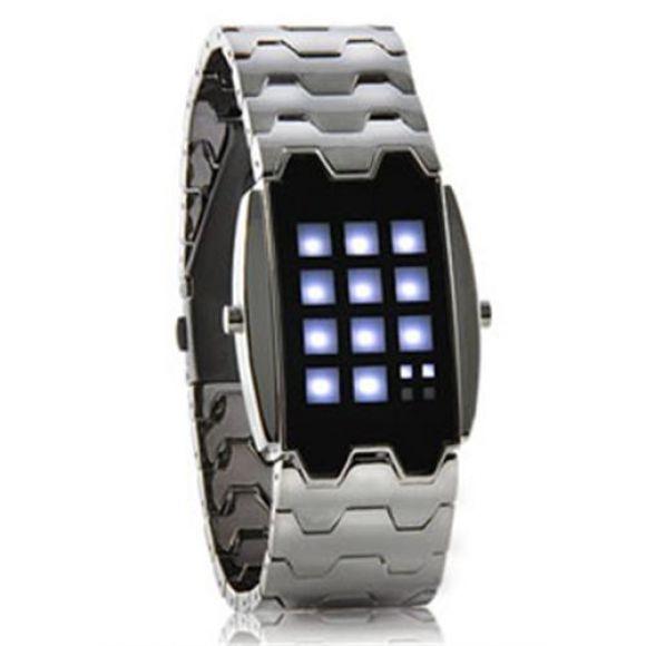 Hip Hop นาฬิกาแอลอีดี แสงสีขาว (Hip Hop White LED Watch)