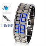 นาฬิกาไร้หน้าปัด สีฟ้า (Faceless LED Watch- Blue)