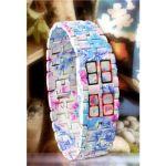 นาฬิกาไร้หน้าปัด ลายดอกซากูระ (Sakura Faceless LED Watch)