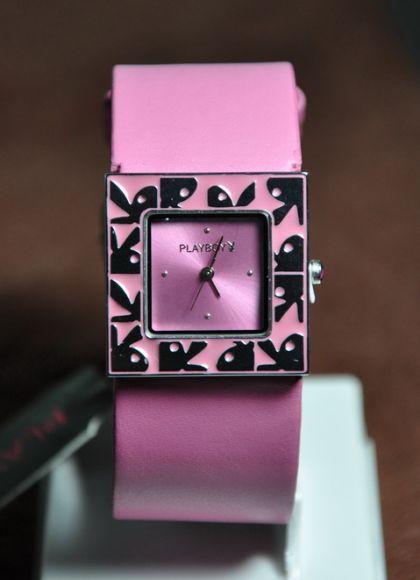 **สินค้าอยู่ไทย พร้อมส่ง** Playboy Bunny Watch Silver Face & Pink Strap Pink Leather
