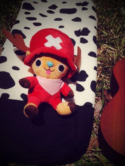 กระเป๋า ukulele ขาวดำ ลายจุด