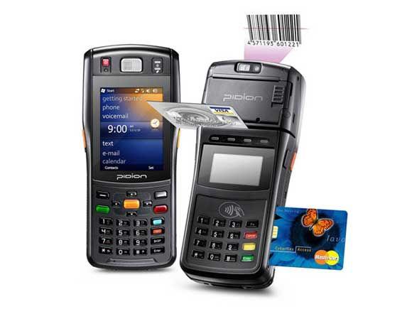 Mobile computer Pidion bluebird BIP-1500 barcode scanner เครื่องอ่านบาร์โค้ด Pidion BIP-1500