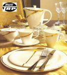 จานเซราิมิคขอบทอง Dinner Plate Gold (รับทำโลโก้ลงบนชิ้นงาน) Tel.0898912327