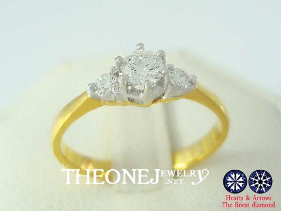 แหวนเพชรเบลเยี่ยมคัท สไตล์ แหวนแต่งงาน แหวนหมั้น เพชร 0.25 กะรัต