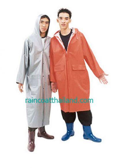 เสื้อกันฝนผู้ใหญ่ แบบชุดโค้ท ผ้า 2 หน้าอย่างดี  30- RG015