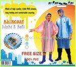 เสื้อกันฝนผู้ใหญ่ แบบค้างคาว ผ้าโปร่ง สีหวาน 30 RG029