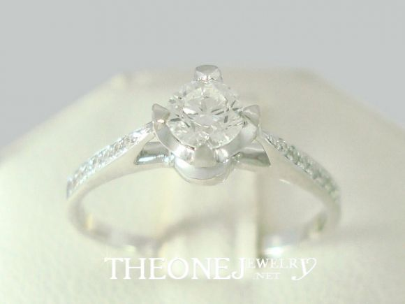 แหวนเพชร แหวนแต่งงาน แหวนหมั้น 0.34 กะรัต