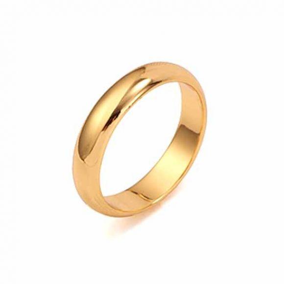 แหวนเกลี้ยงทองคำอิตาลี 18KGF สวยหรู ไซส์ 9US