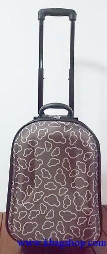 กระเป๋าล้อลากลายการ์ตูนสีน้ำตาล