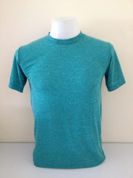 เสื้อยืดคอกลม ไซต์ S สีเขียว