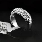 แหวนทองคำขาว 18KRGP ประดับเพชร CZ คุณภาพเยี่ยม ของจริงสวยมากค่ะ