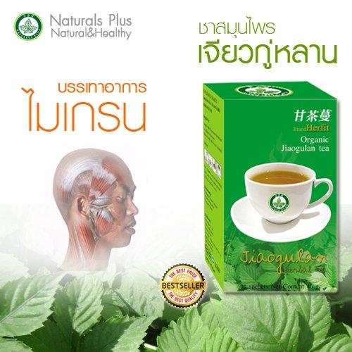 ชาเจียวกู่หลานสมุนไพรไทย รักษาเบาหวาน ลดความดัน แก้ปวดไมเกรน ช้าง 086 010 5510