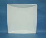 จานเซรามิค,จานสี่เหลี่ยม,จานแบ่ง,จานมีขอบ,จานหวาน,Square,Dessert Plate,รุ่น P690