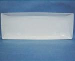 จานเซรามิคสี่เหลี่ยมผืนผ้า,ถาดใส่อาหาร,ขนาดยาว,Long Tray,รุ่นP6913,ขนาด 17.5x46.
