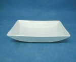 จานชามเซรามิก,จานสี่เหลี่ยม,ผืนผ้า,จานหวาน,จานใส่อาหาร,Rectangular Dish,รุ่นP691