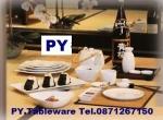 จานเซรามิค,จานสี่เหลี่ยม,จานแบ่ง,จานใส่อาหาร,จานหวาน,Square,Dessert Plate,รุ่นP4108,ขนาด 24 cm