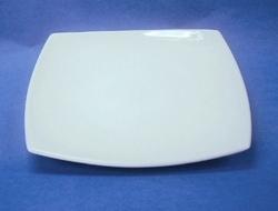 จานเซรามิค,จานสี่เหลี่ยม,จานครูบเพลท,จานโชเพลท,Square Coupe Plate,รุ่น P4106,ขนาด 30cm.เซรามิค