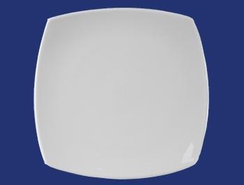 จานเซรามิค,จานสี่เหลี่ยม,จานหวาน,จานบีบี,Square,ฺBB,Dessert Plate,รุ่น P4105,ขนาด 16 cm,เซรามิค