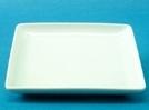 จานเซรามิค,จานสี่เหลี่ยม,จานแบ่ง,จานใส่อาหาร,จานบีบี,จานหวาน,Square,BB,Dessert Plate,P4110,ขนาด 14 c
