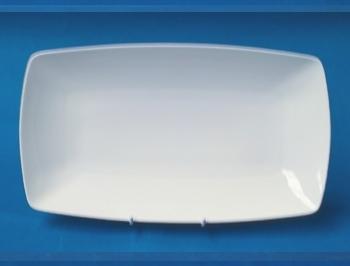 จานเซรามิก,จานสี่เหลี่ยมผืนผ้า,จานแบ่ง,จานใส่ปลา,จานใส่อาหาร,Show,Square Plate,P4126,ขนาด 36 cm