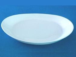 จานวงรี,จานโอเวล,จานใส่กับข้าว,Oval Plate,รุ่น P0285 ขนาด 28cm,เซรามิค,พอร์ซเลน,Ceramics,Porcelain,C