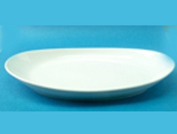 จานวงรี,จานโอเวล,จานใส่กับข้าว,Oval Plate,รุ่น P0223 ขนาด 34cm,เซรามิค,พอร์ซเลน,Ceramics,Porcelain,C
