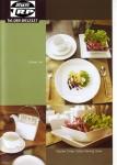 จานเซรามิค,จานสี่เหลี่ยม,จานขนมปัง,จานบีบี,จานหวาน,Square,BB,Dessert Plate,รุ่นP6904,ขนาด 15x15 cm