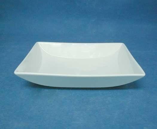 จานชามเซรามิก,จานสี่เหลี่ยม,ผืนผ้า,จานหวาน,จานใส่อาหาร,Rectangular Dish,รุ่นP6916,ขนาด16.5x20cm