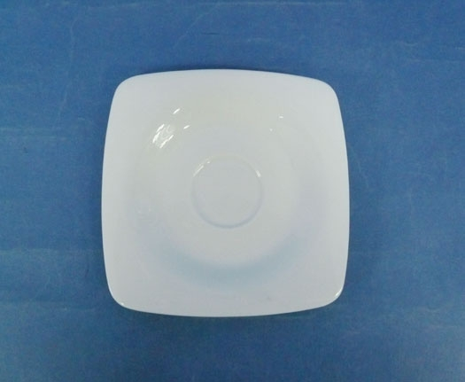 N2993 จานรอง,ชามสลัด,สี่เหลี่ยม,ถ้วยสลัดโบล,Square Saucer,ขนาด 11.5x11.5 cm,เซรามิค,โบนไชน่า,Ceramic