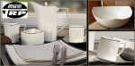 ชามซุปปากบาน,ถ้วยใส่ซุป,Round Soup Plate,N3450,ขนาด 20.5 cm,เซรามิค,โบนไชน่า,Ceramics,Bone China,Chi