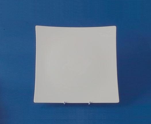 จานบีบี,จานหวาน,จานแบ่ง,จานใส่ขนมปัง,จานสี่เหลี่ยม,Square Dessert,BB Plate,N3454,ขนาด 14 cm,เซราิมิค