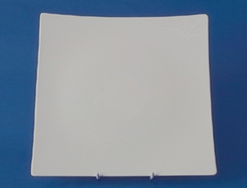จานหวาน,จานแบ่ง,จานใส่อาหาร,จานสี่เหลี่ยม,Square Dessert Plate,N3402,ขนาด 20 cm,เซราิมิค,โบนไชน่า,Ce