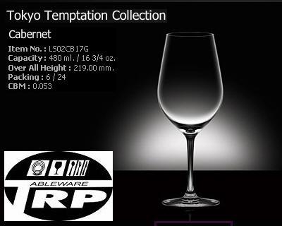 แก้วคาเบอร์เนด,แก้วไวน์ขาว,Cabernet,White Wine,รุ่น LS02CB17G,Tokyo,Lucaris,ความจุ 16 3/4oz,480ml