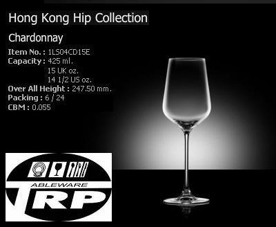 แก้วชาร์ดอนเนร์,แก้วไวน์ขาว,Chardonnay,White Wine,รุ่น 1LS04CD15E,Hong Kong Hip,Lucaris,ความจุ 19oz.