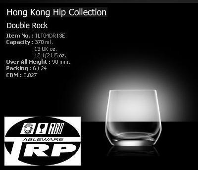 แก้วดับเบิ้ลร็อค,แก้วร็อค,แก้วทรงกลม,แก้วน้ำ,Double Rock,Dring,Honkong Hip,Lucaris,รุ่น 1LT04DR13E