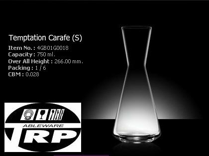 โถแก้วคาราฟ,ดีแคนเตอร์,Carafe,Decanters,รุ่น 4GB01G0018,ความจุ 750 ml,Ocean Glass,Tableware,Thai