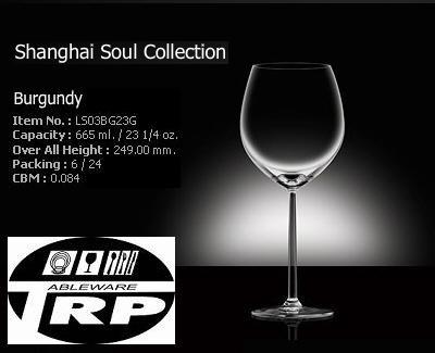 แก้วไวน์แดง,ใหญ่,แก้วบูกันดี,Burgundy,Red Wine,รุ่น LS03BG23G,ความจุ 23 1/4oz,665ml,Glassware,Thai