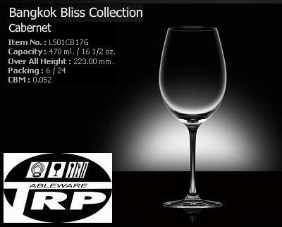 แก้วคาเบอร์เนด,แก้วไวน์ขาว,Cabernet,White Wine,รุ่น LS01CB17G,Bangkok Bliss,ความจุ 16 1/2oz,470ml
