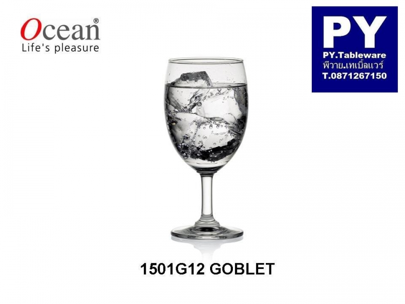 แก้วน้ำ,แก้วก็อบเล็ท,แก้วก้าน,Water Goblet,รุ่น 1501G12,Classic,ขนาด 12 1/4oz 350ml,สูง 165 mm,Glass