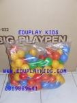 ลูกบอลหลากสีไร้สารพิษ ขนาด 6 cm สินค้าจากเกาหลี