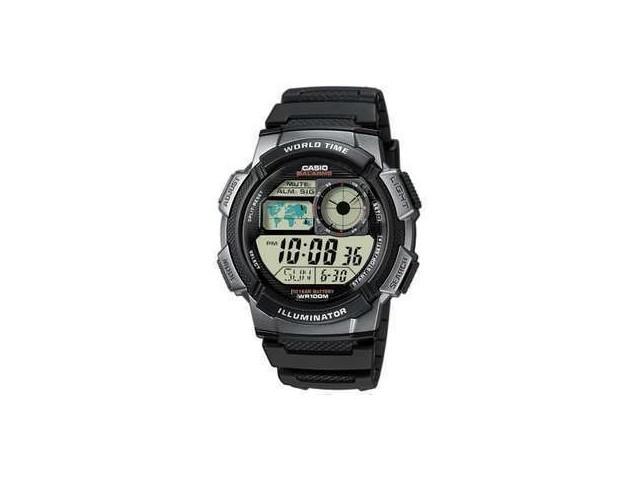 นาฬิกาผู้ชาย Casio AE1000W-1BVDF 10ปีแบทเตอรี มีแผนที่โลก