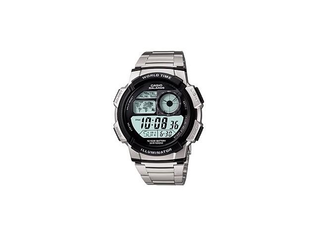 นาฬิกา Casio AE1000WD-1AVDF นาฬิกาcasio 10ปีแบทเตอรี มีแผนที่โลก