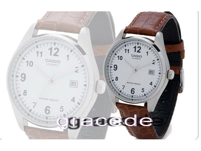 นาฬิกา Casio รุ่น MTP1175E-7 สีเงินสาย หนังสำหรับ สุภาพบุรุษ