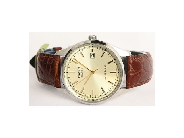 นาฬิกา Casio รุ่น MTP1175E-9 สีเงินสาย หนังสำหรับ สุภาพบุรุษ