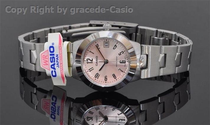 นาฬิกา Casio รุ่น LTP1241D-4ADF สีชมพู สำหรับสุภาพสตรี  นาฬิกาข้อมือ