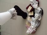 ถุงเท้าระบายผ้าลูกไม้