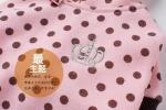 พร้อมส่ง กระโปรงสั้น เสื้อลายจุดมีฮู้ด สีชมพู