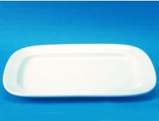 จานแบ่ง,จานสี่เหลี่ยมมุมมน,จานใส่อาหาร,PICKLE DISH ,ขนาด 23.0 CM,รุ่น P0947เซรามิก,พอร์ซเลน,Ceramics